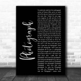 Def Leppard Photograph Black Script Song Lyric Print