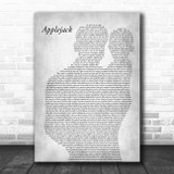 Dolly Parton Applejack Father & Baby Grey Song Lyric Print
