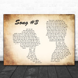 Stone Sour Song 3 Man Lady Couple Song Lyric Music Wall Art Print