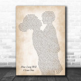 Ellie Goulding How Long Will I Love You Mother & Child Song Lyric Print