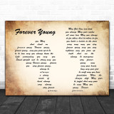 bob Dylan Forever Young Man Lady Couple Song Lyric Music Wall Art Print