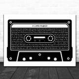Erasure A Little Respect Black & White Music Cassette Tape Song Lyric Print