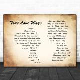 Buddy Holly True Love Ways Man Lady Couple Song Lyric Music Wall Art Print