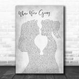 Gerry Cinnamon Where We're Going Lesbian Women Gay Brides Couple Wedding Grey Song Lyric Print