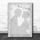 Grateful Dead They Love Each Other Man Lady Bride Groom Wedding Grey Song Lyric Print