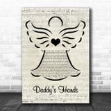 Holly Dunn Daddy's Hands Music Script Angel Song Lyric Print