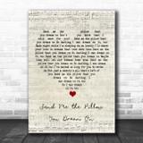 Johnny Tillotson Send Me the Pillow You Dream On Script Heart Song Lyric Print