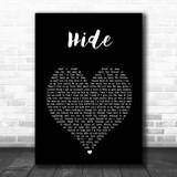 Juice WRLD Hide Black Heart Song Lyric Print