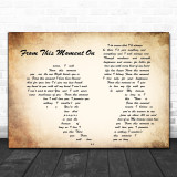 Shania Twain From This Moment On Man Lady Couple Song Lyric Music Wall Art Print