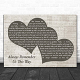 Lady Gaga Always Remember Us This Way Landscape Music Script Two Hearts Song Lyric Print