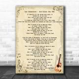 Lee Greenwood God Bless The USA Vintage Guitar Song Lyric Print
