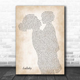 Lemar Lullaby Mother & Child Song Lyric Print