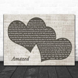 Lonestar Amazed Landscape Music Script Two Hearts Song Lyric Print