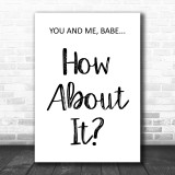 Dire Straits Romeo & Juliet How About It Song Lyric Music Wall Art Print