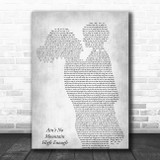 Marvin Gaye Ain't No Mountain High Enough Mother & Child Grey Song Lyric Print