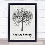 Neil Young Natural Beauty Music Script Tree Song Lyric Print
