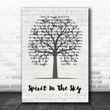 Norman Greenbaum Spirit In The Sky Music Script Tree Song Lyric Print