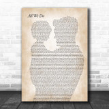 Oh Wonder All We Do Father & Child Song Lyric Print