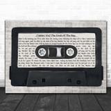 Otis Redding (Sittin' On) The Dock Of The Bay Music Script Cassette Tape Song Lyric Print