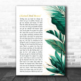 Otis Redding Chained And Bound Gold Green Botanical Leaves Side Script Song Lyric Print