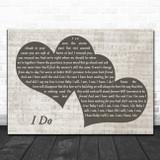 Paul Brandt I Do Landscape Music Script Two Hearts Song Lyric Print