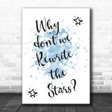 Blue The Greatest Showman Rewrite The Stars Song Lyric Music Wall Art Print
