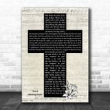 Phil Wickham This Is Amazing Grace Music Script Christian Memorial Cross Song Lyric Print