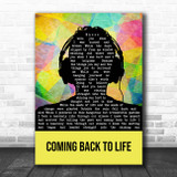 Pink Floyd Coming Back To Life Multicolour Man Headphones Song Lyric Print
