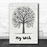 Rascal Flatts My Wish Music Script Tree Song Lyric Print