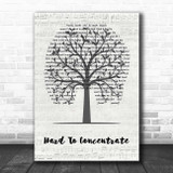 Red Hot Chili Peppers Hard To Concentrate Music Script Tree Song Lyric Print