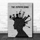 Red Hot Chili Peppers The Zephyr Song Musical Instrument Mohawk Song Lyric Print