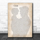 Robbie Williams Candy Father & Child Song Lyric Print