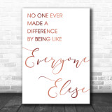 Rose Gold The Greatest Showman Made A Difference Song Lyric Music Wall Art Print