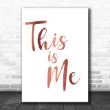 Rose Gold The Greatest Showman This Is Me Song Lyric Music Wall Art Print