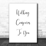 Sinéad O'Connor Nothing Compares 2 U Song Lyric Music Wall Art Print
