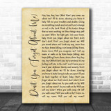 Simple Minds Don't You (Forget About Me) Rustic Script Song Lyric Print
