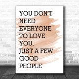 Watercolour The Greatest Showman Everyone To Love You Song Lyric Music Wall Art Print