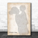 T Carter A Mother's Song Mother & Child Song Lyric Print