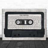 The Carpenters Only Yesterday Music Script Cassette Tape Song Lyric Print