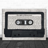 The Housemartins The Light Is Always Green Music Script Cassette Tape Song Lyric Print
