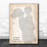 The Platters Goodnight Sweetheart, It's Time To Go Mother & Child Song Lyric Print