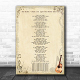 The Smiths There Is A Light That Never Goes Out Vintage Guitar Song Lyric Print