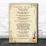 The White Buffalo Wish It Was True Vintage Guitar Song Lyric Print