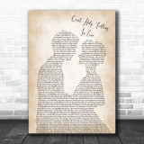 Elvis Presley Can't Help Falling In Love Song Lyric Man Lady Wedding Music Wall Art Print