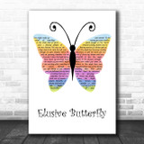 Val Doonican Elusive Butterfly Rainbow Butterfly Song Lyric Print