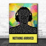 Villagers Nothing Arrived Multicolour Man Headphones Song Lyric Print