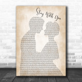 John Legend Stay With You Man Lady Bride Groom Wedding Song Lyric Music Wall Art Print
