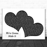 Little Milton We're Gonna Make It Landscape Black & White Two Hearts Song Lyric Music Art Print