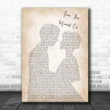 Shania Twain From This Moment On Song Lyric Man Lady Bride Groom Wedding Music Wall Art Print