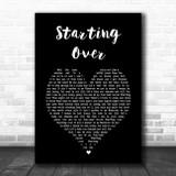 Chris Stapleton Starting Over Black Heart Song Lyric Music Art Print